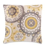 Make-Your-Own-Pillow Equinox Throw Pillow Cover in Yellow ...