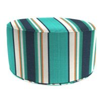 Buy Outdoor Round Pouf Ottoman in Sunbrella Token ...
