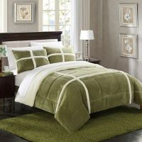 Buy Chic Home Camille 7-Piece Queen Comforter Set in Green ...