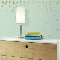 Gold Confetti Dots Peel and Stick Wall Decals - Bed Bath ...