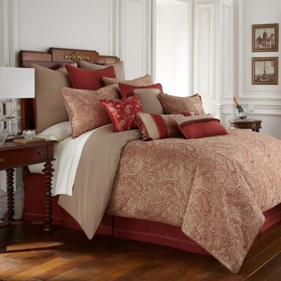 Waterford Linens Cavanaugh Reversible Comforter Set  Bed