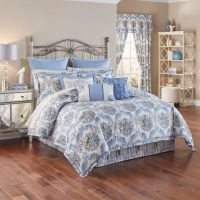 Waverly Over The Moon Reversible Comforter Set in Lapis ...