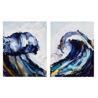Madison Park Liquid Waves Canvas 2-Piece Wall Art - Bed ...