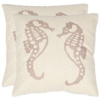 Safavieh Dahli Seahorse Throw Pillows in Ivory (Set of 2 ...