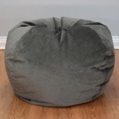 bed bath beyond chairs costco folding table and large textured velvet bean bag chair - &