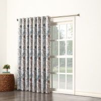 Sun Zero Allena Grommet Top Extra Wide Patio Door Curtain ...