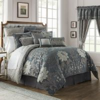 Waterford Linens Ansonia Comforter Set in Pewter - Bed ...