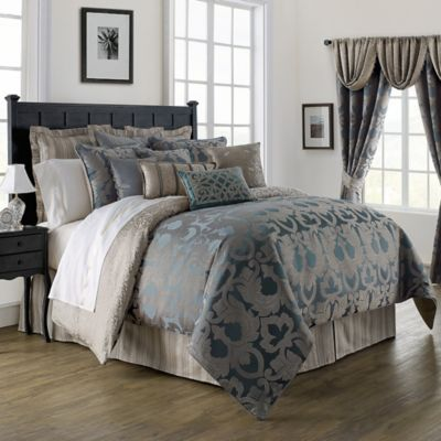 Waterford Linens Chateau Lake Comforter Set in Slate