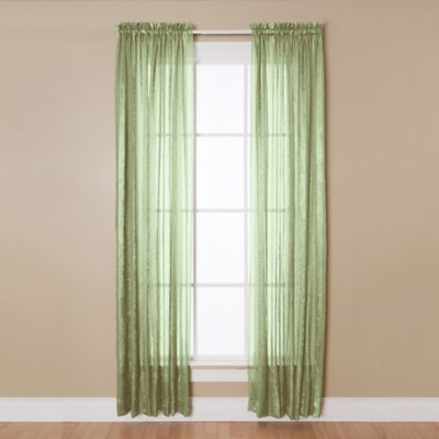 kitchen window curtain ideas table lights aria rod pocket sheer panel - bed bath & beyond