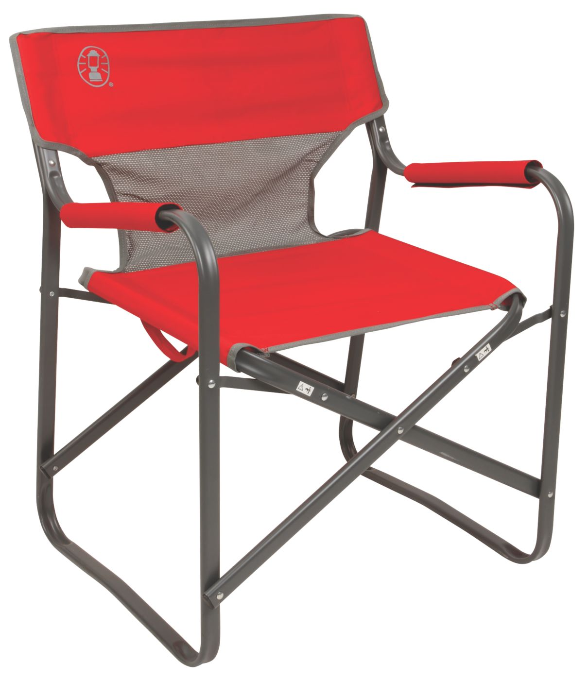 camp folding chairs chair sashes for rent camping coleman outpost breeze deck
