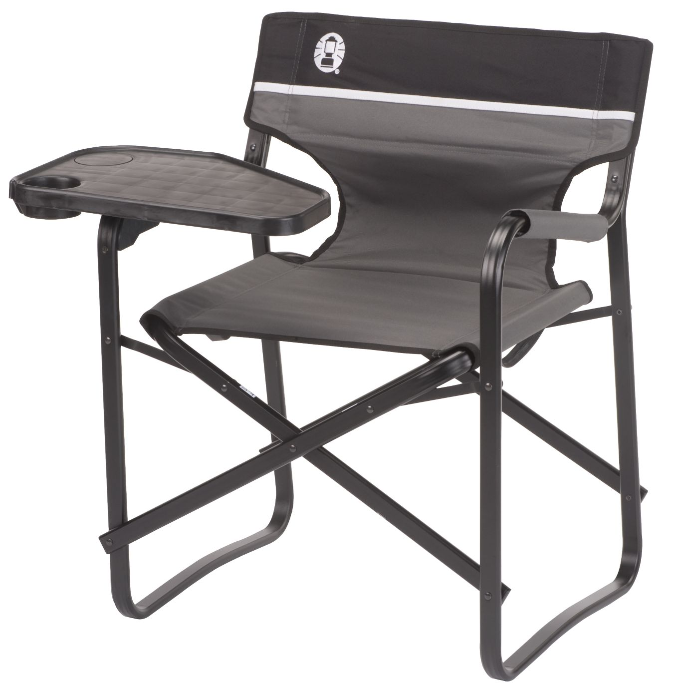 camp folding chairs tell city chair camping coleman aluminum deck with swivel table