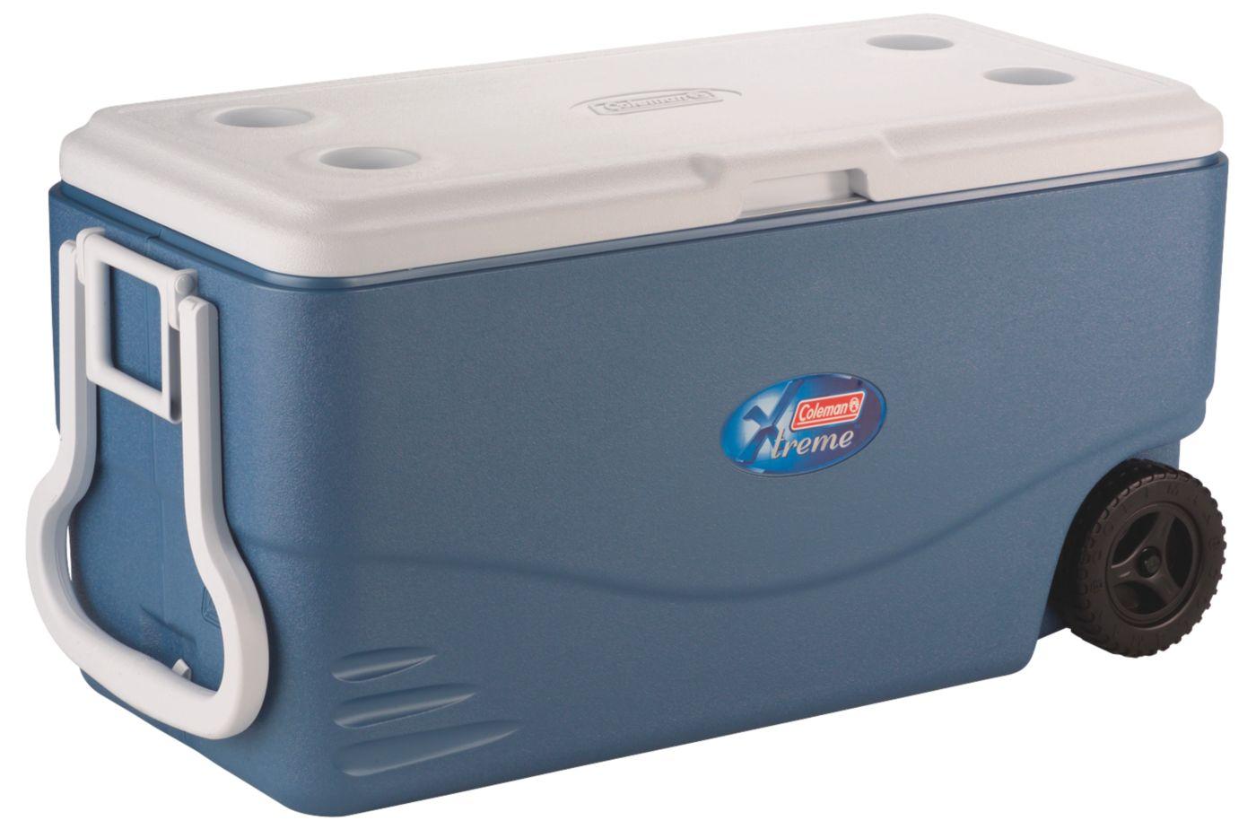 100 Qt Wheeled Xtreme 5 Cooler - Iceberg Blue Coleman