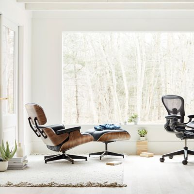 office chair with ottoman black pedestal dining table and chairs herman miller eames lounge yliving com nelson x leg aeron