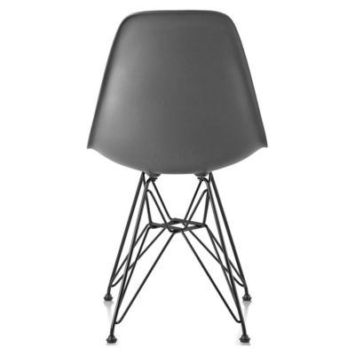 black eames chair office ergonomic accessories herman miller molded plastic side wire base yliving com charcoal seat color with