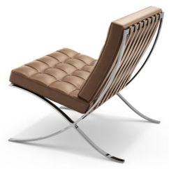 Barcelona Chair Leather Handmade Wooden Chairs Knoll Yliving Com