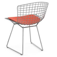 Bertoia Side Chair Hercules Stacking Chairs Knoll With Seat Cushion Yliving Com