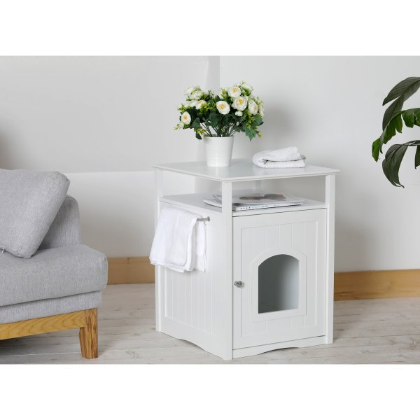 Merry Products Cat Washroom Night Stand & Pet House In