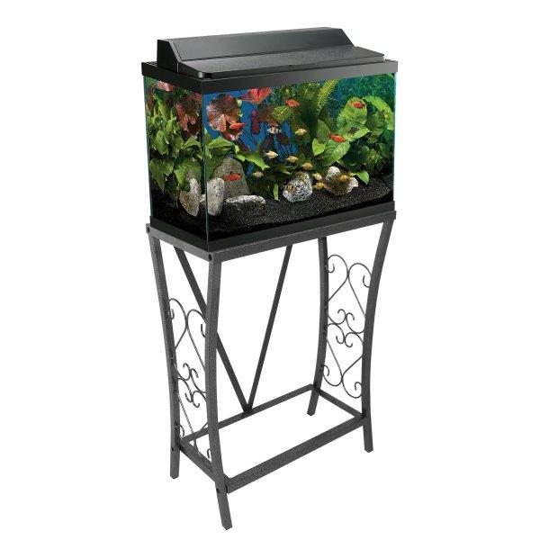 Aquatic Fundamentals Silver Vein Scroll Aquarium Stand 10 Gallons Petco Store