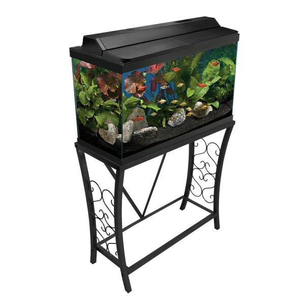 Aquatic Fundamentals Black Scroll Aquarium Stand 29