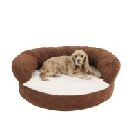 Carolina Pet Company Chocolate Brown Orthopedic Bolster ...