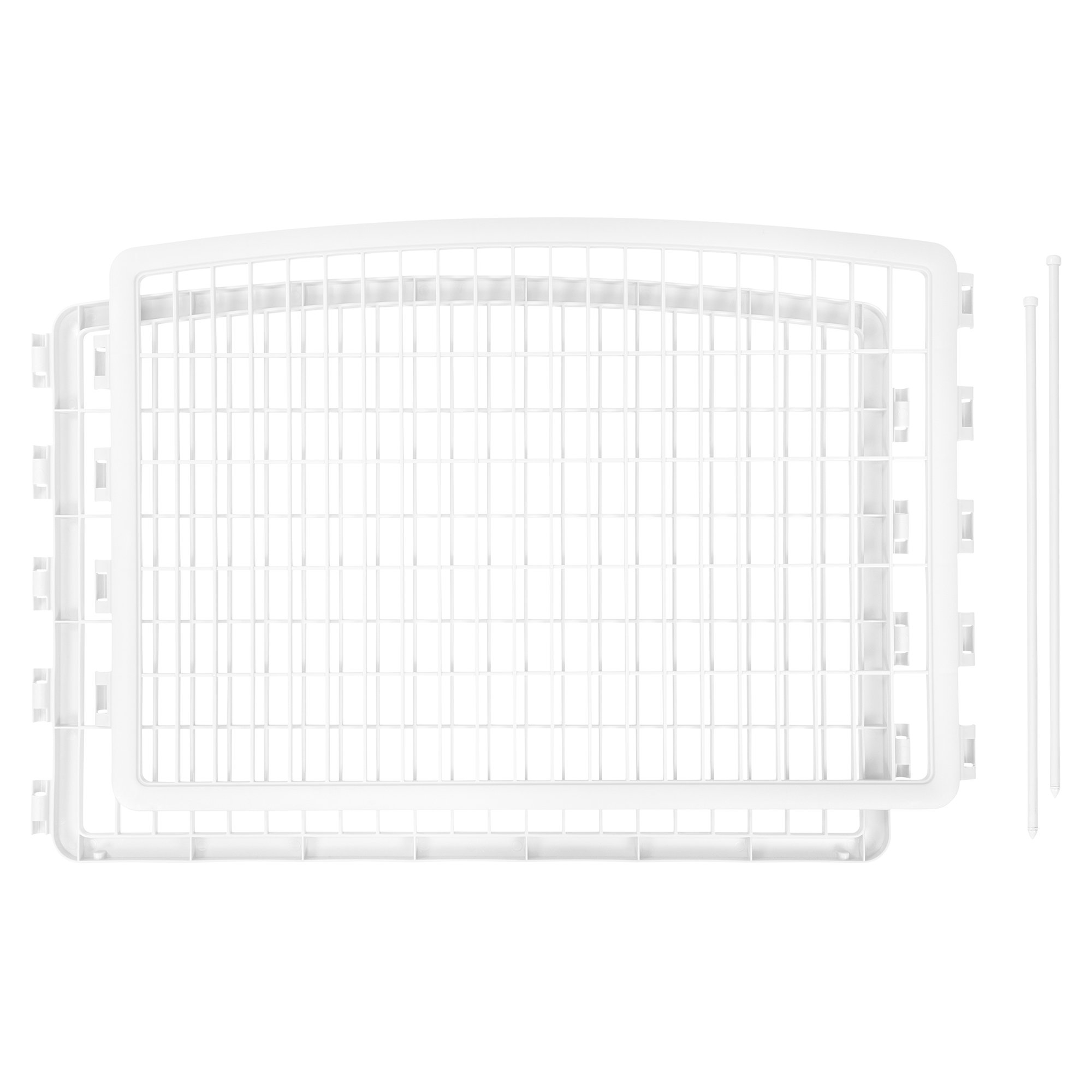Iris White Two Panel Add On for Four Panel Containment and