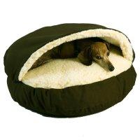 Snoozer Orthopedic Cozy Cave Pet Bed in Olive & Cream | Petco
