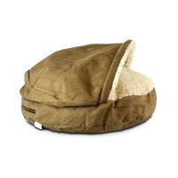Snoozer Luxury Cozy Cave Pet Bed in Camel & Cream | Petco