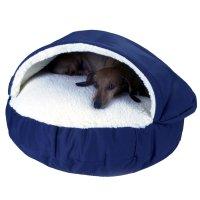 Snoozer Orthopedic Cozy Cave Pet Bed in Navy & Cream | Petco