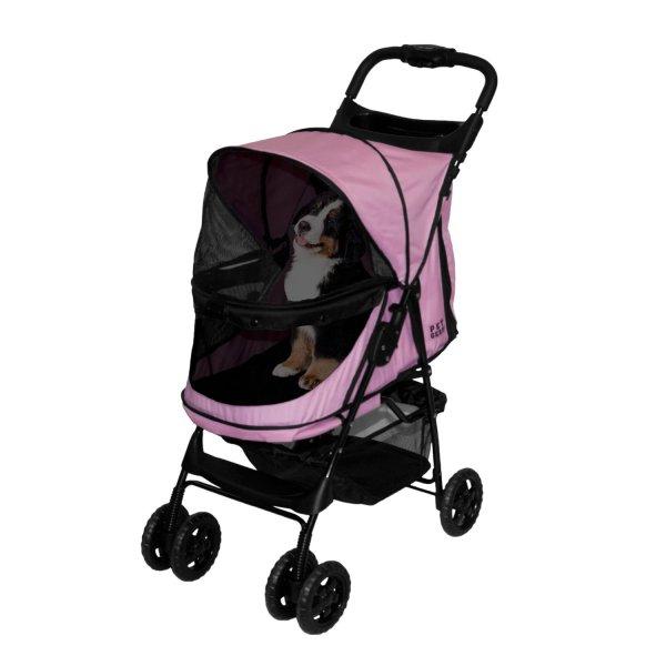 Pet Gear Happy Trails -zip Stroller In Pink Diamond