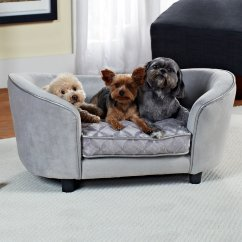 Mini Dog Sofa Replacement Cushions For Sleeper Enchanted Home Pet Quicksilver Bed In Gray Petco
