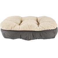 Harmony Grey Plush Lounger Memory Foam Dog Bed | Petco