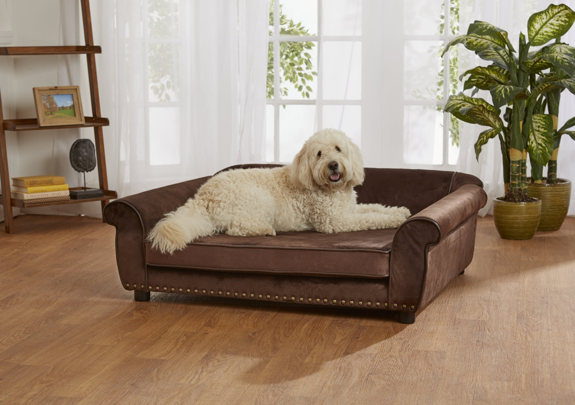 enchanted home mackenzie pet sofa pads uk brown ultra plush outlaw petco