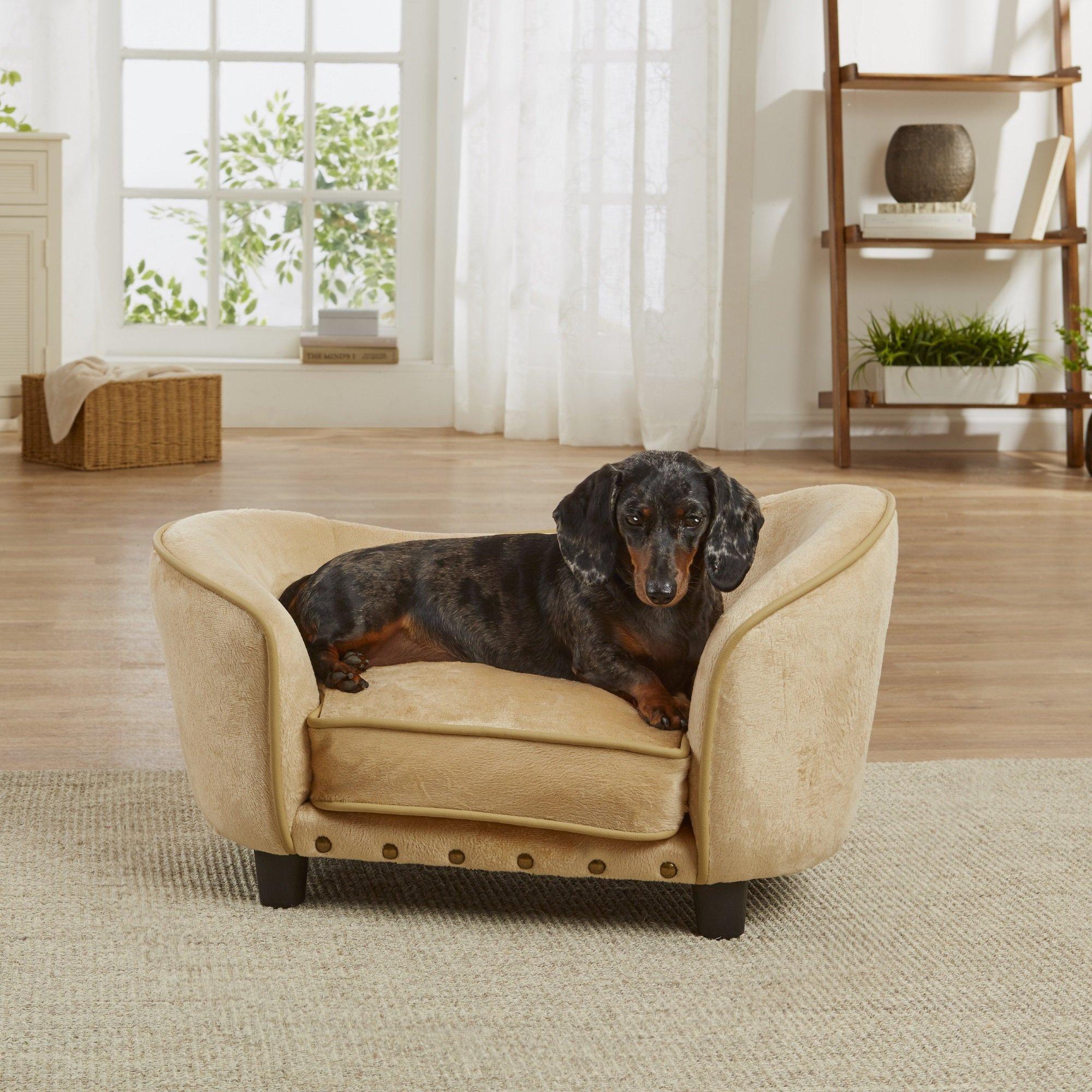 enchanted home mackenzie pet sofa 2 seater covers uk caramel ultra plush snuggle