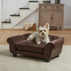 Mini Dog Sofa Oliver American Leather Enchanted Home Pet Brown Ultra Plush Cleo Petco