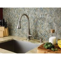 Stainless Steel Ainsley 1-Handle, Pull-Down Kitchen Faucet ...