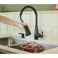 Tuscan Bronze Ainsley 1-Handle, Pull-Down Kitchen Faucet ...