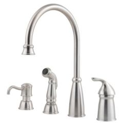 Stainless Steel Kitchen Faucets Storage Unit Avalon 1 Handle Faucet Gt26 4cbs Pfister