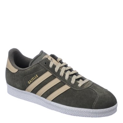 Adidas Gazelle II mens olive green athletic lifestyle sneaker