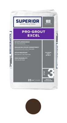 superior pro grout excel umber 25 lb