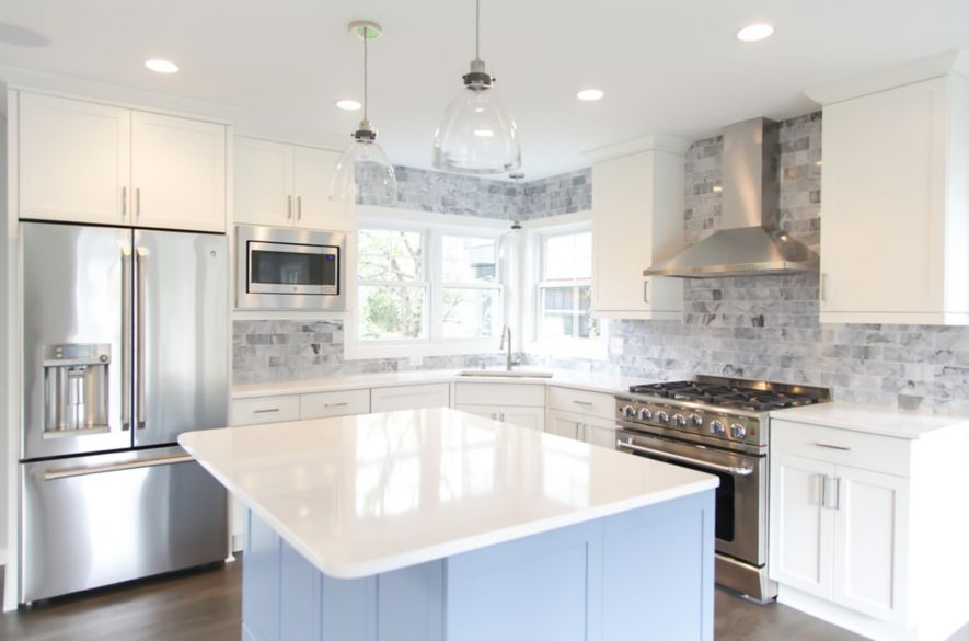 kitchen tile designs cabinet pull out drawers trends ideas the shop if your cabinets and countertops are white consider a design that will add some personality
