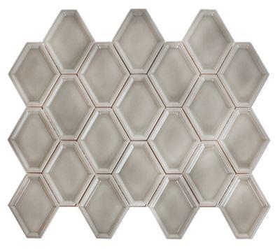nova hex smoke ceramic mosaic tile 5 x 5 5 in