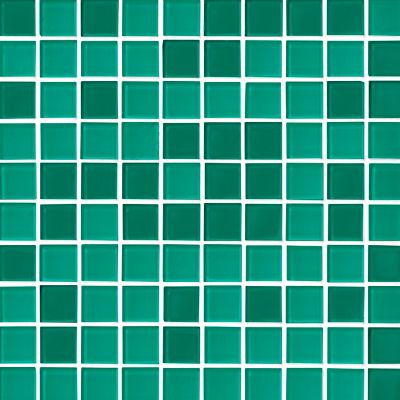 glass teal blend mosaic wall and floor tile 1 in