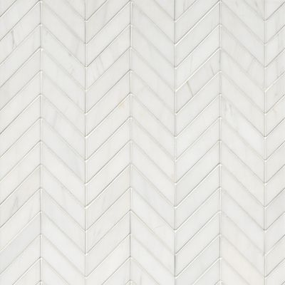 bianco puro honed marble chevron mosaic wall and floor tile