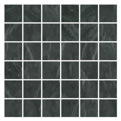 adoni black slate wall and floor tile 2 x 2 in