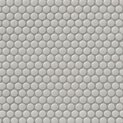 penny round light grey gloss porcelain mosaic wall and floor tile