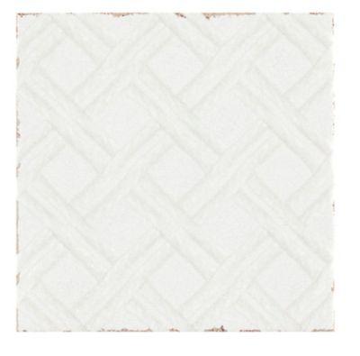 annie selke lattice white ceramic wall tile 6 x 6 in