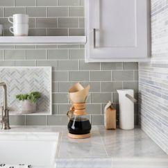 Wall Tile Kitchen Extractor Backsplash The Shop Grey Patterned Glass Sink Area