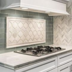 Kitchen Tile Designs Polished Nickel Bridge Faucet Backsplash Trends Ideas The Shop This Shows How Contrasting Patterns And Materials Can Create A Beautiful Focal Point