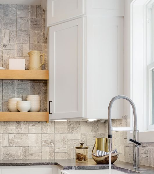 wall tile for kitchen island with drawers backsplash the shop a classic brick pattern always looks great but there are so many ways to play patterns in your layout try flipping on its head