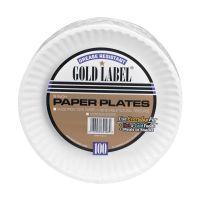 AJM Premium Gold Label Coated Paper Plates 9 Diameter ...